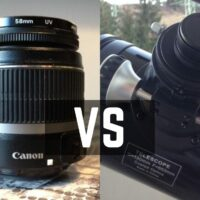 Telescope vs Camera Lens - Astrophotography
